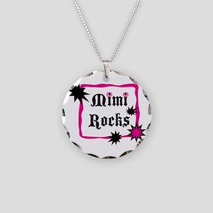Mimi Rocks Necklace Circle Charm