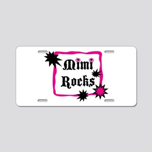 Mimi Rocks Aluminum License Plate