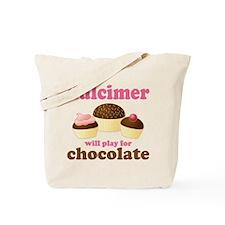 Dulcimer Chocolate Music Tote Bag