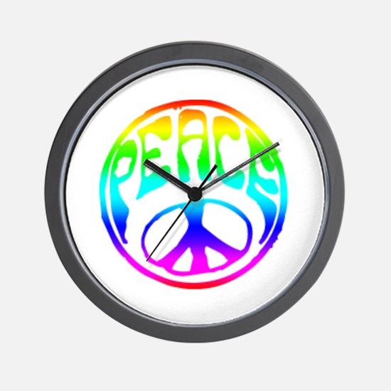 Vintage Peace Sign Wall Clock