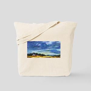 """Barn, Morningsun"" Tote Bag"