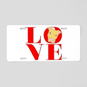Pit Bull Means Love Aluminum License Plate