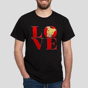 Pit Bull Means Love Dark T-Shirt