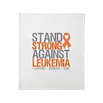 StandStrongAgainstLeukemia Throw Blanket
