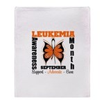 Leukemia Month Butterfly Throw Blanket