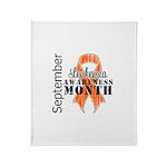 Leukemia Awareness Month v5 Throw Blanket