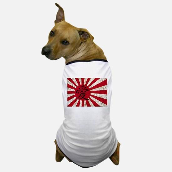 Japanese Love Flag Dog T-Shirt