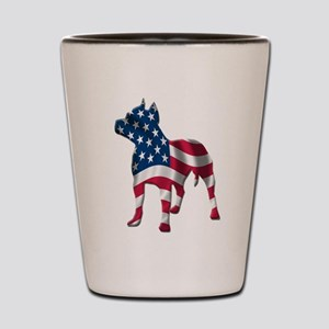 Patriotic Pit bull design Shot Glass