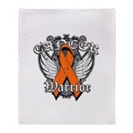 Leukemia Cancer Warrior Throw Blanket