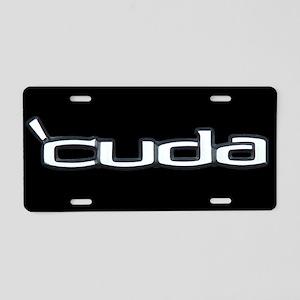 'CUDA Aluminum License Plate