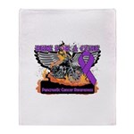 Ride Cure Pancreatic Cancer Throw Blanket
