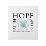 Hope Faith Prostate Cancer Throw Blanket