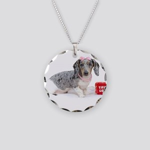 True Love Necklace Circle Charm