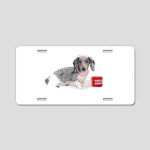 True Love Aluminum License Plate