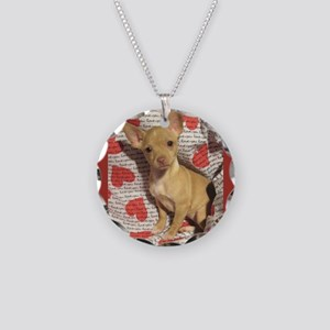 Chihuahua Love Necklace Circle Charm