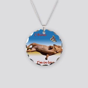 Forever Love Necklace Circle Charm