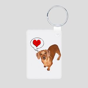 Love You Aluminum Photo Keychain