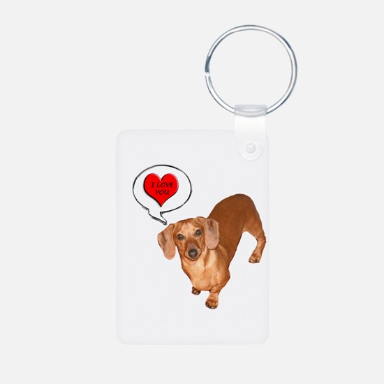 Love You Aluminum Photo Keychain