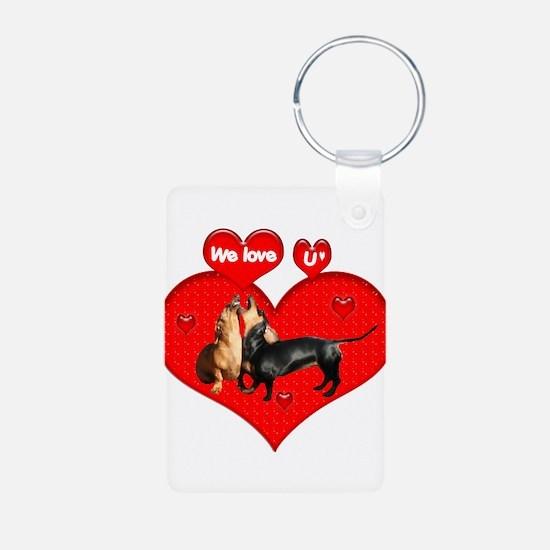 We Love U Keychains