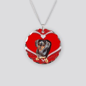 Black Doxies Love Necklace Circle Charm