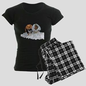 Wedding Dachshunds Dogs Women's Dark Pajamas