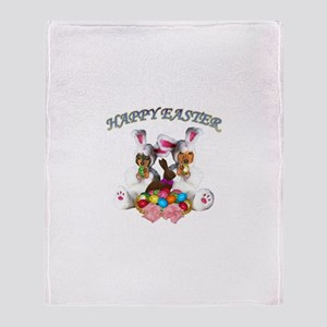 Easter Doxies Throw Blanket