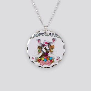Easter Doxies Necklace Circle Charm