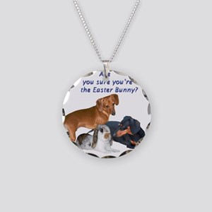 are you the Easter Bunny Dogs Necklace Circle Char