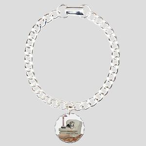 TV Dad Doxie Charm Bracelet, One Charm