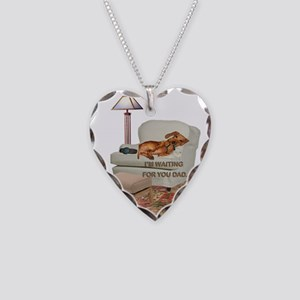 TV Doxie Dad Necklace Heart Charm
