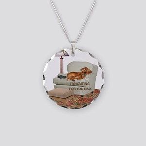 TV Doxie Dad Necklace Circle Charm