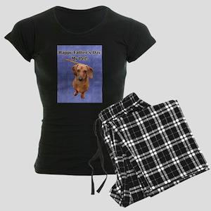 Fathers Day Dog Women's Dark Pajamas