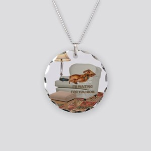 TV Doxie Necklace Circle Charm