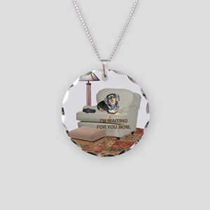 TV Mom Doxie Necklace Circle Charm