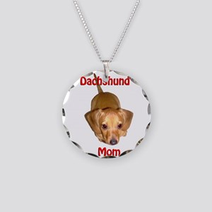 Doxies Mom Necklace Circle Charm