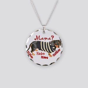 Momma's Day Dachshunds Necklace Circle Charm