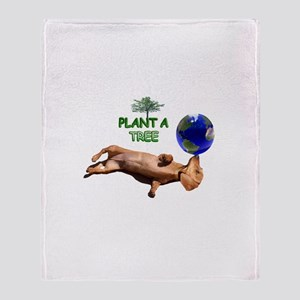 Tree Dachshund Throw Blanket
