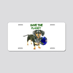 The Planet Aluminum License Plate