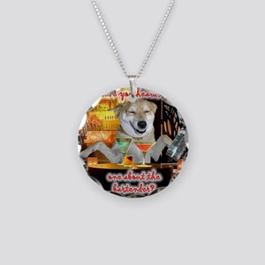 Bartender Necklace Circle Charm