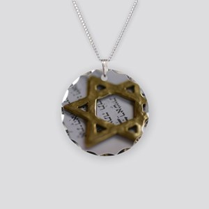Jewish Star Necklace Circle Charm
