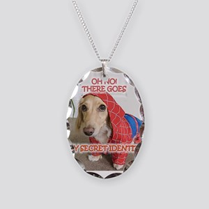Spiderman Necklace Oval Charm