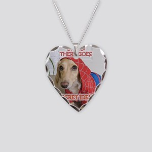 Spiderman Necklace Heart Charm