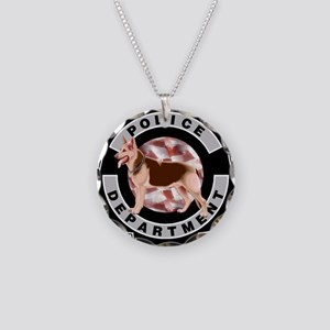 K9 Police Department Necklace Circle Charm