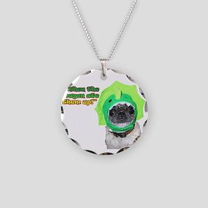 Dragon Dog Necklace Circle Charm