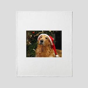 Golden Santa Throw Blanket