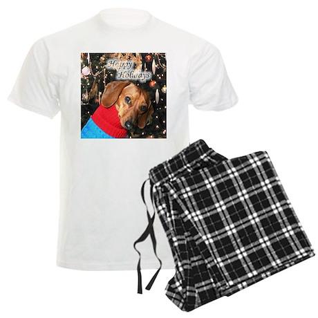 Happy Holidays Doggie Men's Light Pajamas
