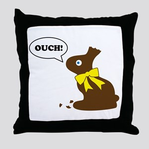 Bunny Ouch Throw Pillow