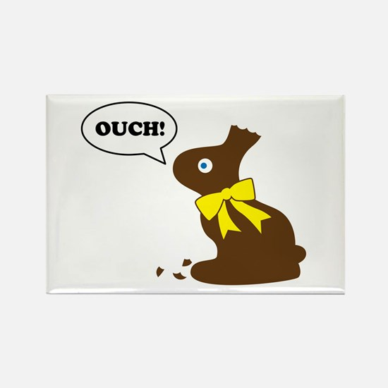 Bunny Ouch Rectangle Magnet