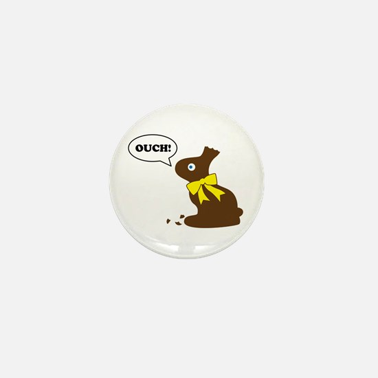 Bunny Ouch Mini Button
