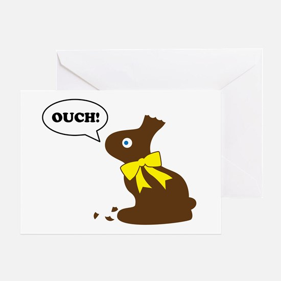 Bunny Ouch Greeting Card